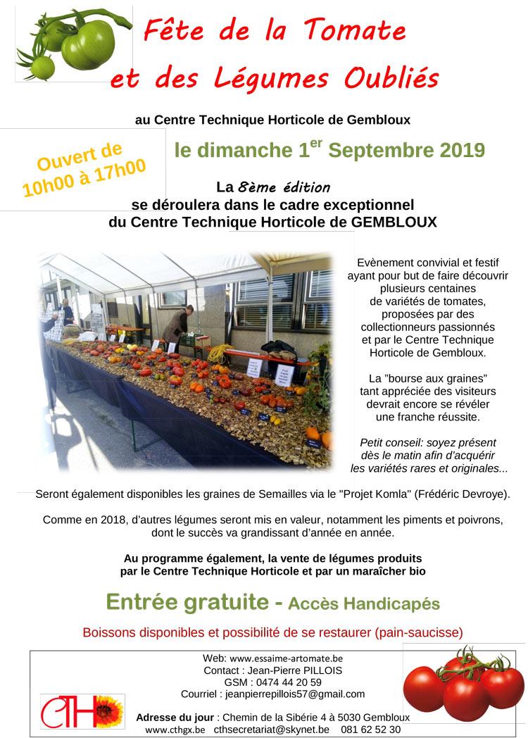 7e fête de la tomate gembloux cth 2019