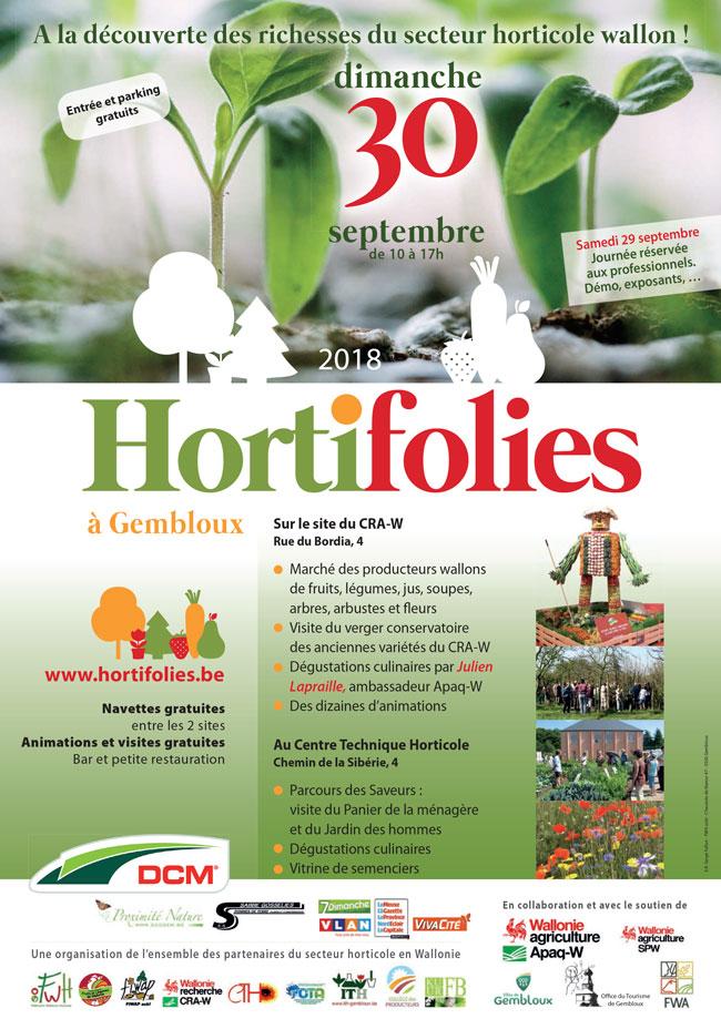 Hortifolies au Centre Technique Horticole de Gembloux 30 septembre 2018