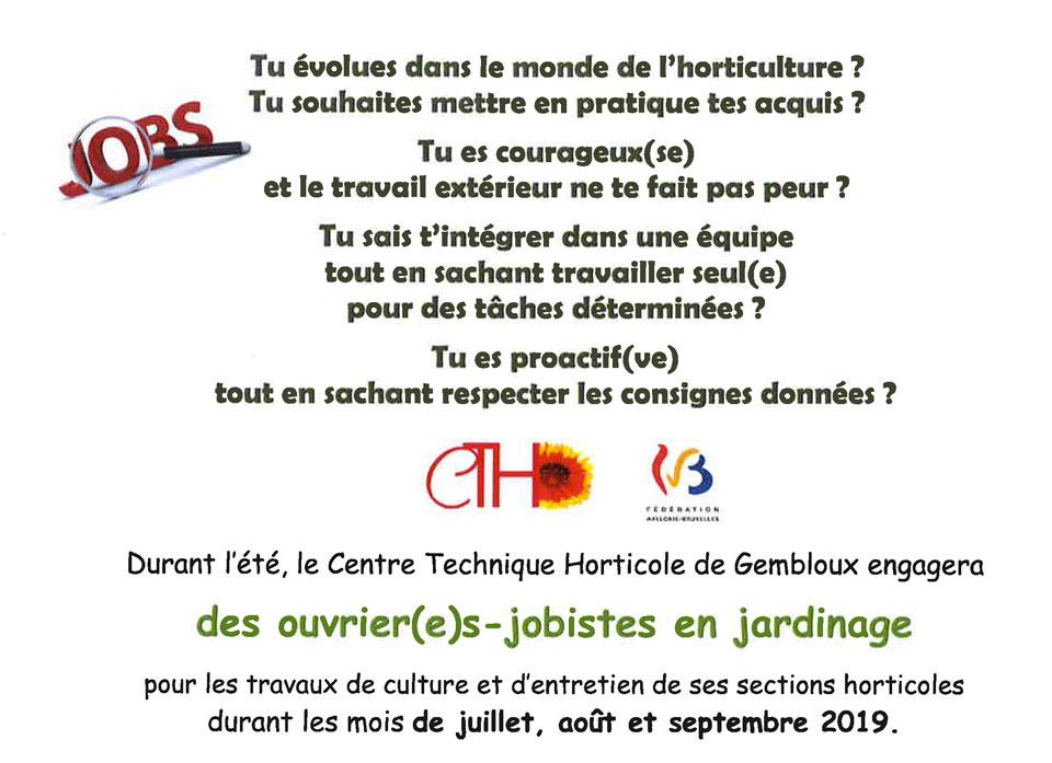 job etudiant gembloux horticole inscription