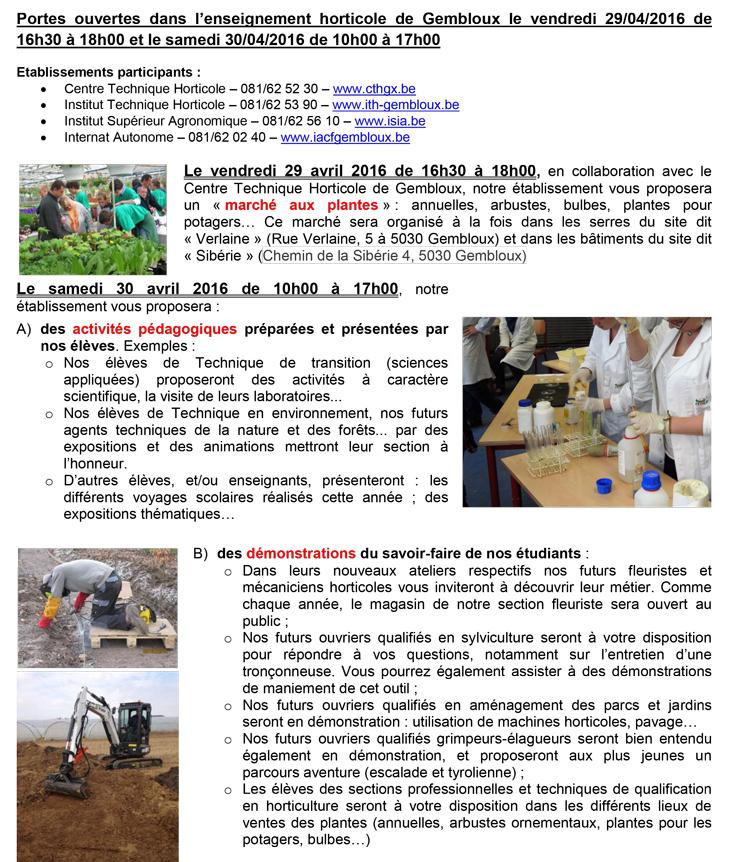 arboriculture plantes gembloux cth 2016
