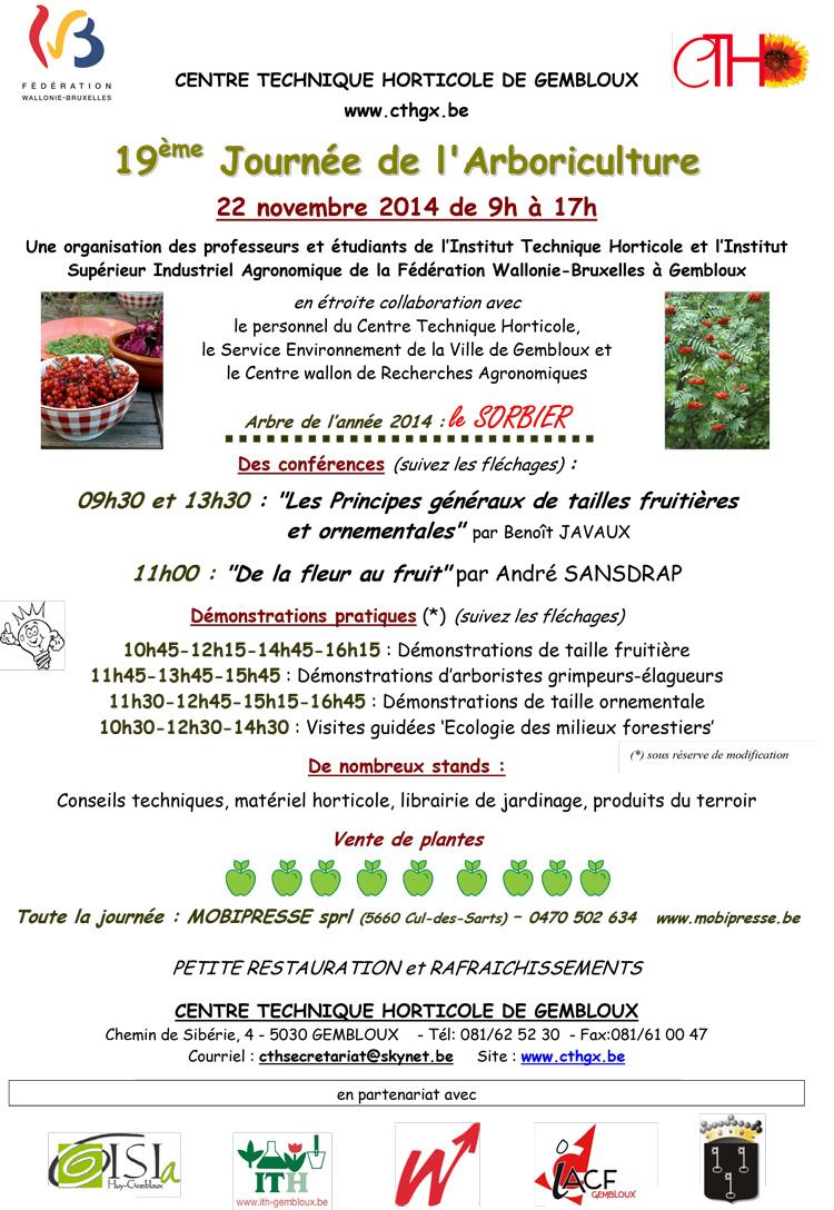 arboriculture plantes gembloux cth 2014