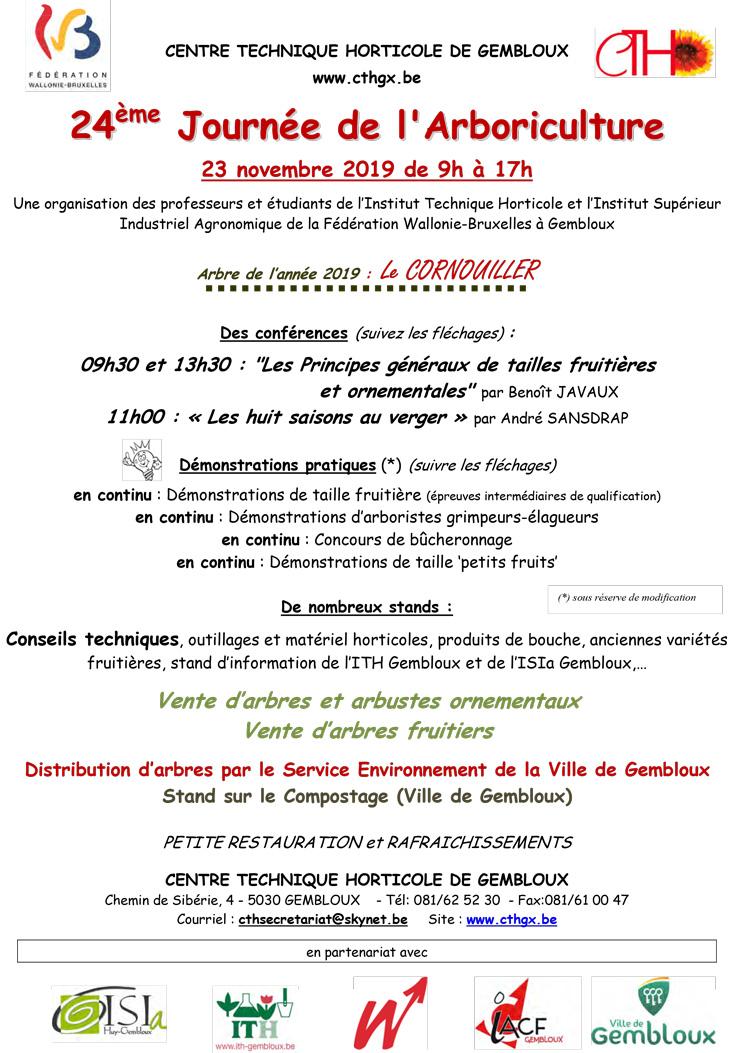 programme journee arboriculture gembloux 23 novembre 2019 au cth a gembloux
