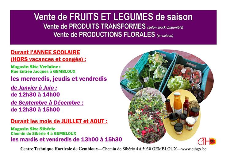 vente de fruits et legumes