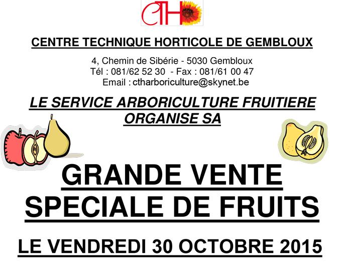 arboriculture fruitière vente gembloux cth 2015